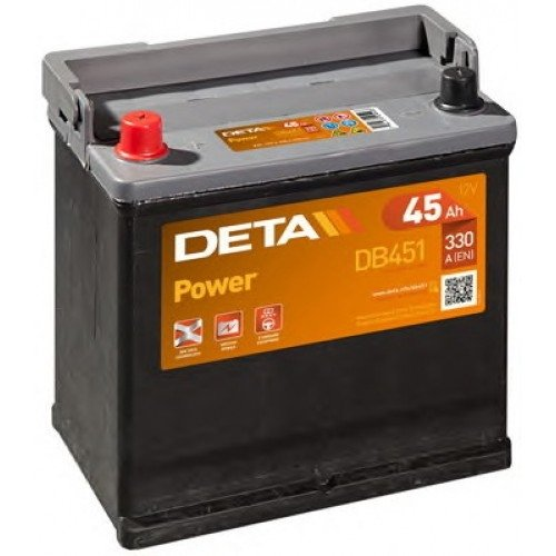Аккумулятор DETA  POWER   45 AH 330 A ETN 1(L+) B1