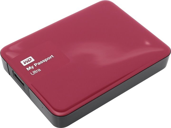 Внешний жесткий диск WD My Passport Ultra 2000Gb WDBNFV0020BBY-EEUE Berry