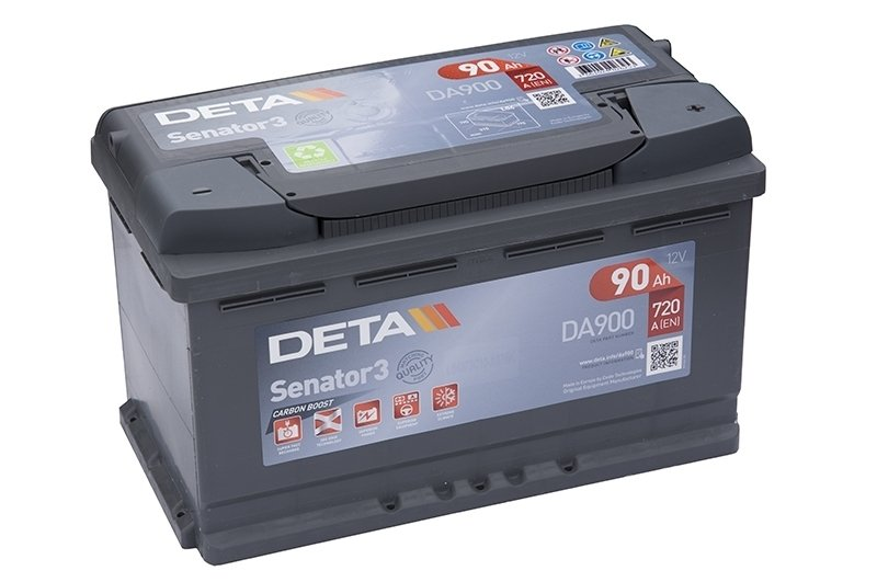 Аккумулятор DETA  SENATOR3 CARBON BOOST  ETN 0(R+) Korean B1  12V