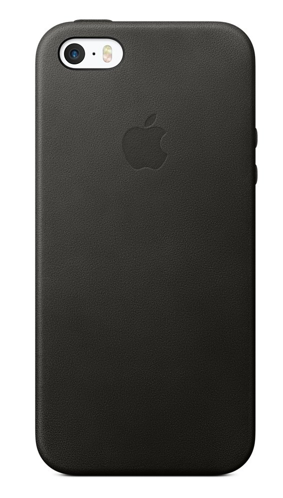 Чехол Apple для iPhone SE Leather Case  Black MMHH2ZM/A