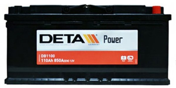 Аккумулятор  DETA  POWER   110 AH 850 A ETN 0(R+) B13