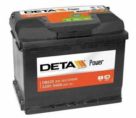 Аккумулятор DETA  POWER   62 AH 540 A ETN 0(R+) B13
