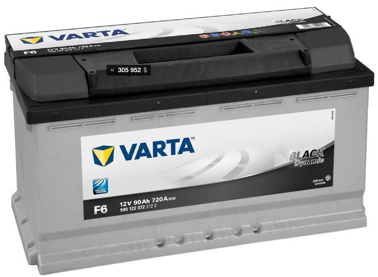 Аккумулятор Varta  Black Dynamic 590122  90 Ah