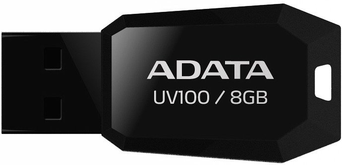Флэш накопитель A-Data DashDrive UV100 AUV100-8G-RBK