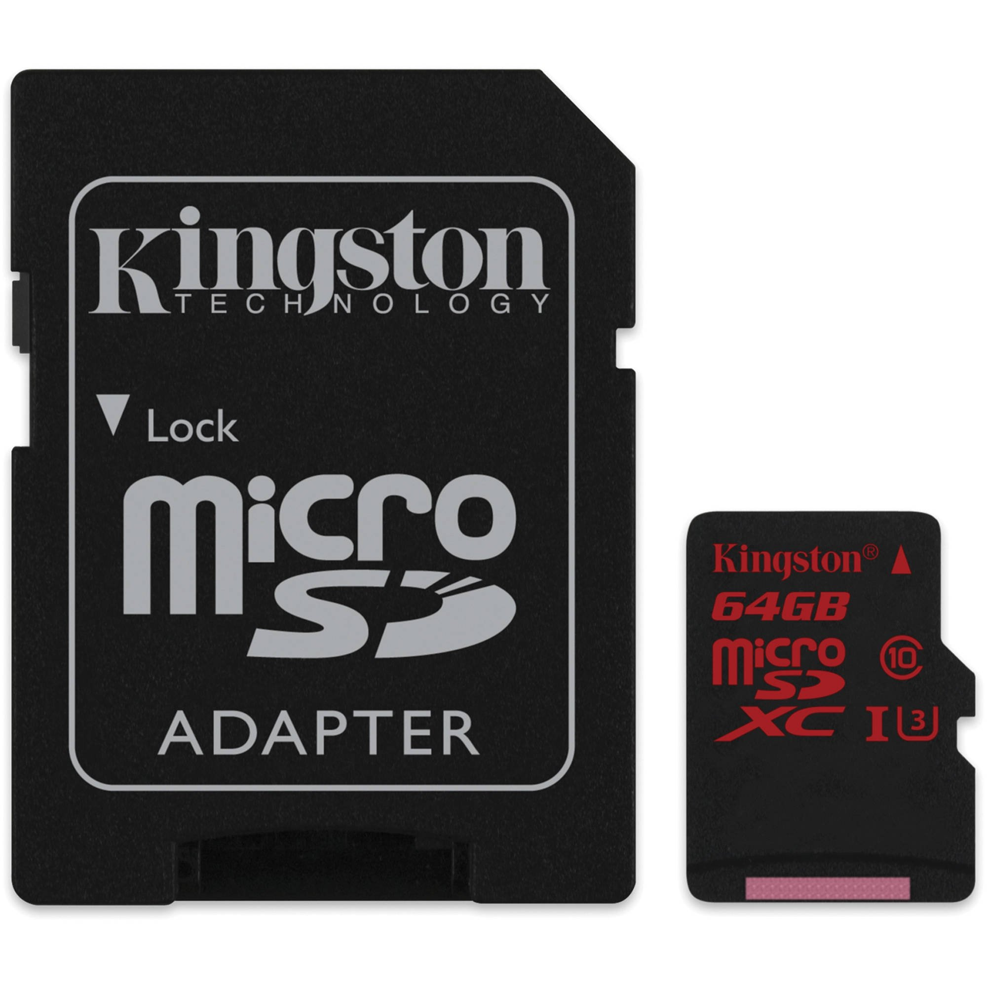 Карта памяти Kingston 64GB microSDXC UHS-I speed class 3 SDCA3/64GB