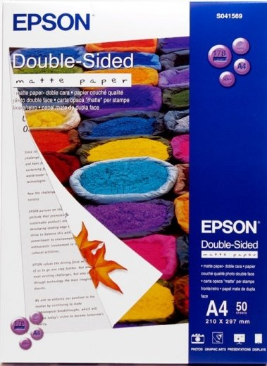 Бумага Epson Double Sided Matte Paper A4, 50л