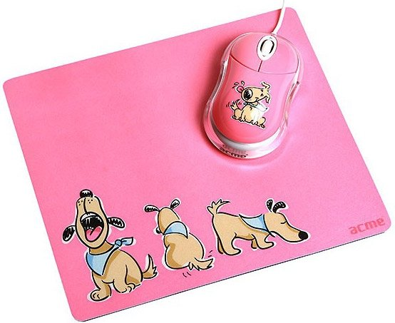 Мышь Acme Mouse + Mouse pad (dogs) USB MN-06W /PADDOGS