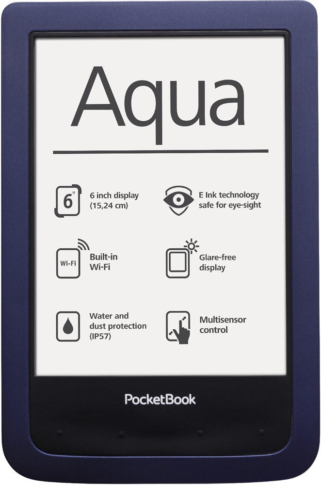 Электронная книга PocketBook Aqua (640) синий
