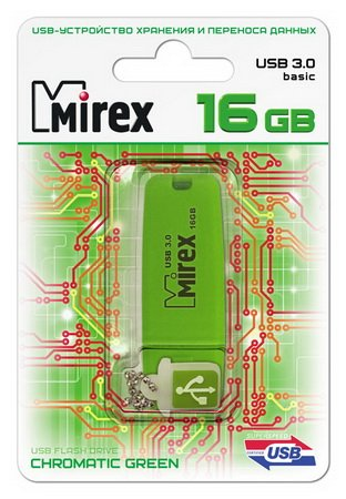 Usb флэш-накопитель Mirex CHROMATIC GREEN 16GB USB 3.0 (13600-FM3CGN16) GREEN
