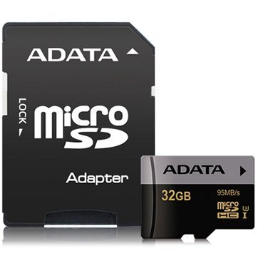 Карта памяти SDHC-micro A-Data 32GB Premier AUSDH32GUI3CL10-RA1 UHS-I U3 CLASS10 + adapter