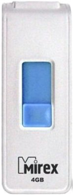 USB Flash Mirex SHOT 4GB (13600-FMUWST04) WHITE