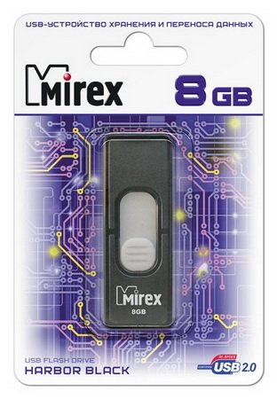 Usb флэш-накопитель Mirex HARBOR BLACK 8GB (13600-FMUBHB08) BLACK