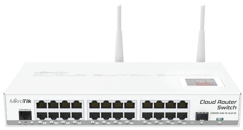 Коммутатор Mikrotik Cloud Router Switch CRS125-24G-1S-2HnD-IN