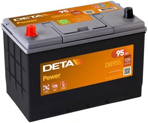 Аккумулятор DETA  POWER  ETN 1(L+) Korean B1  12V