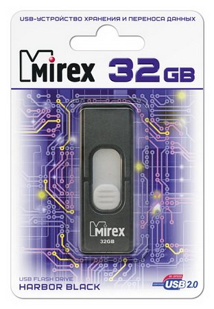 Usb флэш-накопитель Mirex HARBOR BLACK 32GB (13600-FMUBHB32) BLACK