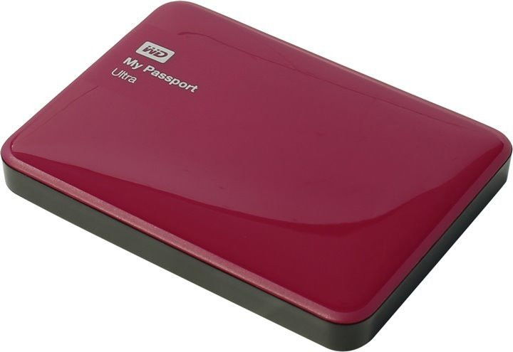 Внешний жесткий диск WD My Passport Ultra 1000Gb WDBDDE0010BBY-EEUE Berry
