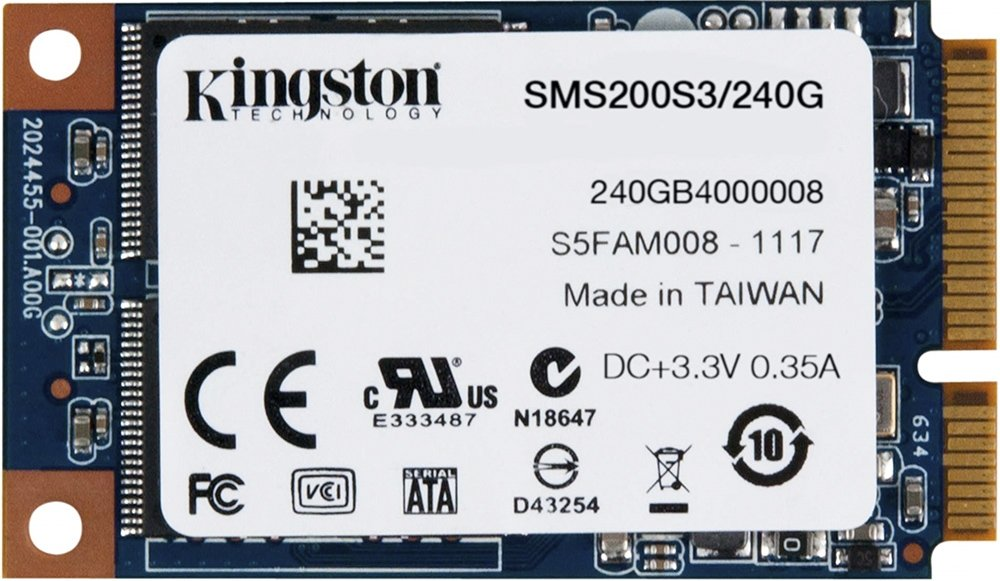 SSD накопитель Kingston 240GB SSDNow mSATA (6Gbps) SMS200S3/240G