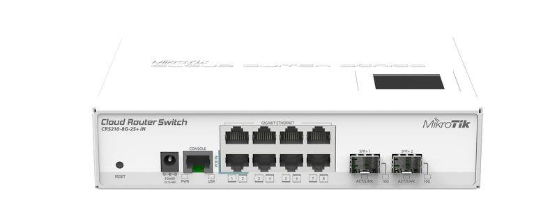 Коммутатор Mikrotik Cloud Router Switch CRS210-8G-2S+IN