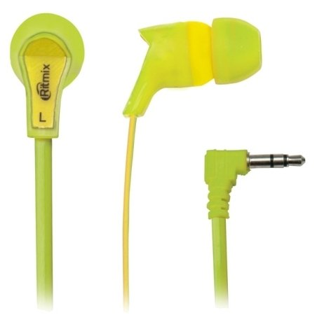 Наушники Ritmix RH-013  Green/Yellow