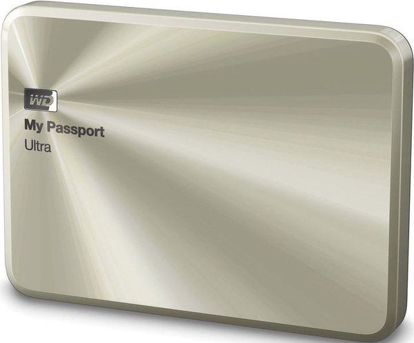 Внешний жёсткий диск WD My Passport Ultra Metal Edition 1Tb WDBTYH0010BCG-EESN Gold
