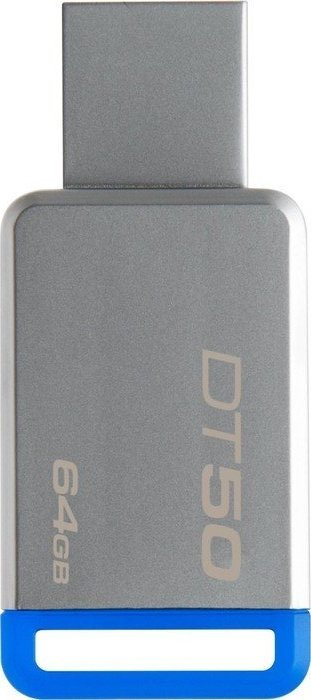 USB Flash Kingston 64GB USB 3.0 DataTraveler 50 (Metal/Blue) DT50/64GB