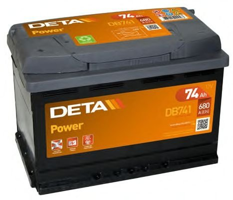 Аккумулятор  DETA  POWER  74 AH 680A ETN 0(R+) B13