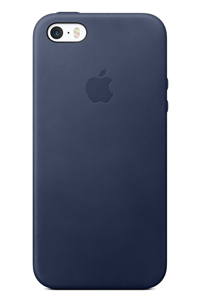 Чехол  Apple для iPhone SE Leather Case Midnight Blue MMHG2ZM/A