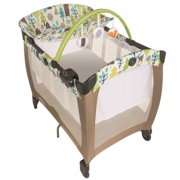 Кроватка-манеж  Graco Contour Electra  Bear Trail