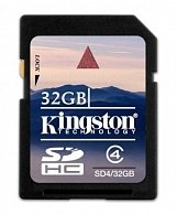 Карта памяти Kingston 32GB SDCard High Capacity SD4/32GB