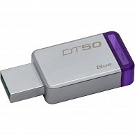 USB Flash Kingston 8GB USB 3.0 DataTraveler 50 (DT50/8GB) Metal/Purple