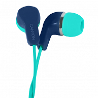 Наушники Canyon Stereo Earphones with inline microphone CNS-CEPM02GBL Green+Blue