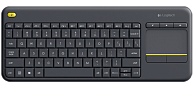 Клавиатура   Logitech K400 plus Wireless Touch  (черный)