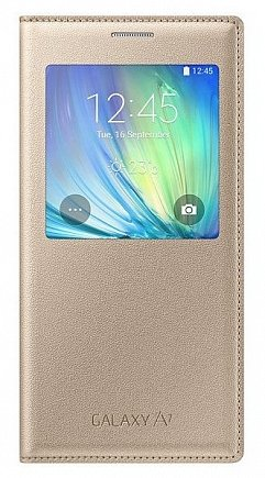 купить Чехол Samsung EF-CA700BFEGRU (S View A700 ) for Galaxy A7 golden