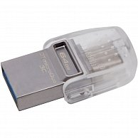 USB Flash Kingston 64GB DT microDuo 3C, USB 3.0/3.1 + Type-C  DTDUO3C/64GB