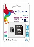 Карта памяти A-Data microSDHC 16Gb Class 10 UHS-I + adapter AUSDH16GUICL10-RA1