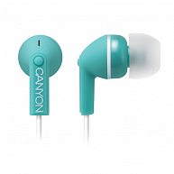 Наушнки Canyon  CNS-CEP03G  Stereo earphones with micophone, Green