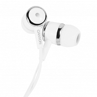 Наушники Canyon Stereo earphones CNE-CEP01W White