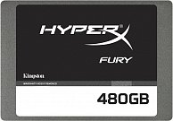 SSD накопитель Kingston 480GB HyperX FURY SSD SATA 3 2.5 (7mm height) w/Adapter SHFS37A/480G
