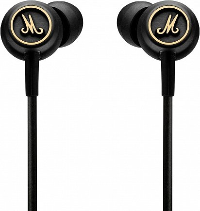 купить Наушники Marshall Mode EQ Headphones w/Mic & Remote Black & Brass 4090940