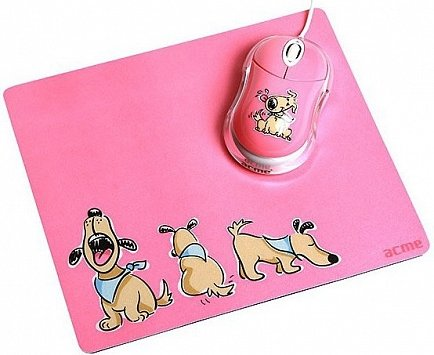 купить Мышь Acme Mouse + Mouse pad (dogs) USB MN-06W /PADDOGS