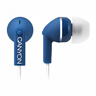 Наушнки Canyon  CNS-CEP03BL  Stereo earphones with micophone, Dark blue