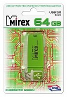 Usb флэш-накопитель Mirex CHROMATIC GREEN 64GB USB 3.0 (13600-FM3CGN64) GREEN