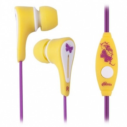 купить Наушники Ritmix RH-012M kids girls yellow
