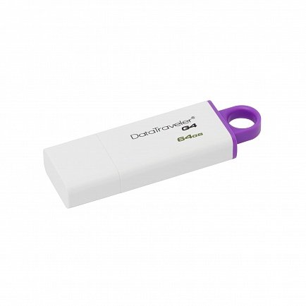 купить USB Flash Kingston 64GB USB 3.0 DataTraveler I G4,  white/purple DTIG4/64GB