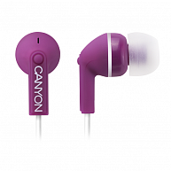 Наушнки Canyon  CNS-CEP03P  Stereo earphones with micophone, Purple
